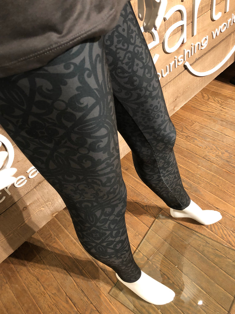 Black Baroque Leggings