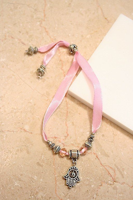 Jewellery & Fashion Accessories - Pink Ribbon Hamsa Bracelet