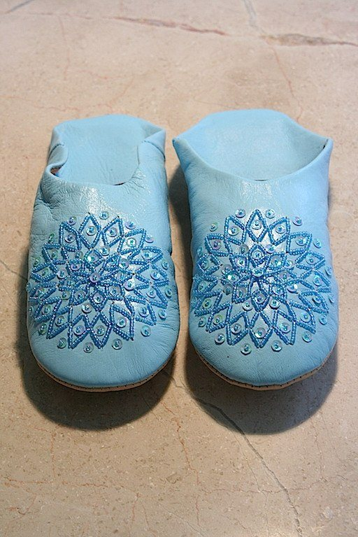 Blue Babouche Slippers (Adult)