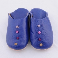Blue Babouche Slippers (Kids)