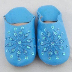 Shoes, Slippers & Boots - Blue Sparkle Slippers (Kids)