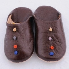 Brown Babouche Slippers (Kids)