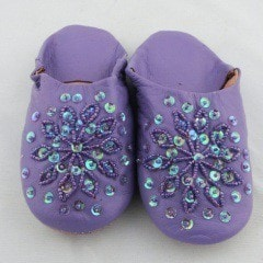 Dark Purple Sparkle Slippers (Kids)