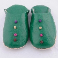 Shoes, Slippers & Boots - Green Babouche Slippers (Kids)
