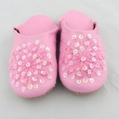 Light Pink Sparkle Slippers (Kids)