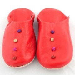 Red Babouche Slippers (Kids)