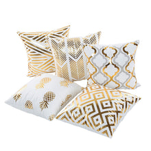 Load image into Gallery viewer, Eco-Friendly Gold Festive Cushion Covers