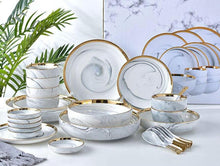 Load image into Gallery viewer, 20 Piece Marble Tableware