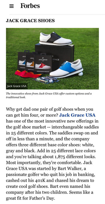 Jack Grace USA Makes the Forbes.com Fathers Day Golf Gift Guide
