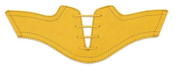 Women's Gold Pebble Saddles Flat Saddle View From Jack Grace USA