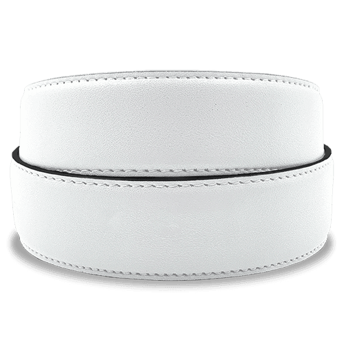 Cool Whip White Golf Belt Strap from Jack Grace USA