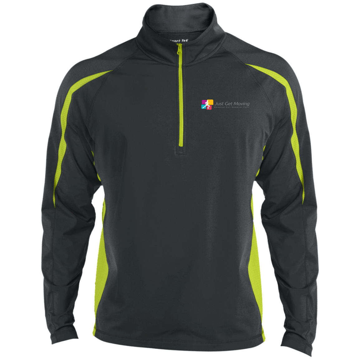 ST851 Men's Sport Wicking Colorblock 1/2 Zip-Jackets-Just Get Moving