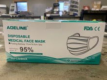 Load image into Gallery viewer, 3-Ply Non-Medical, Disposable Face Masks, 50/Box