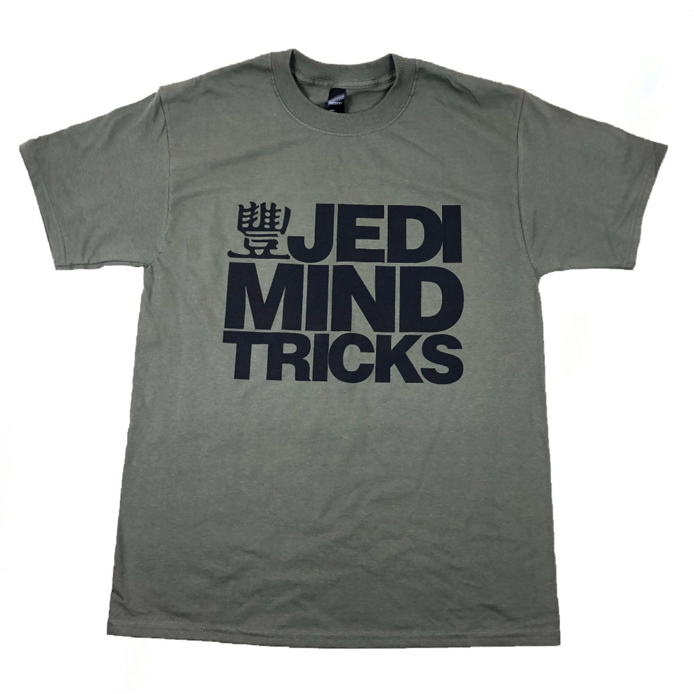 JMT - Black Stacked Logo - Fatigue Green Shirt