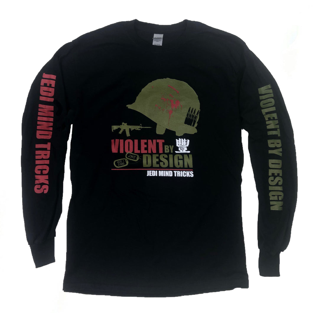 JMT - Violent By Design -Black - Long Sleeve Shirt