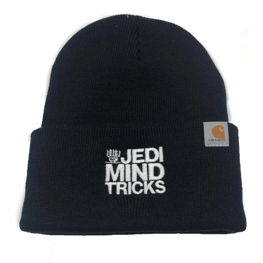 JMT - Embroidered Stacked - Black Carhartt Beanie