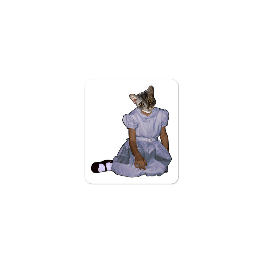 Kiss Cut Sticker - Barbara Sitting - Cat