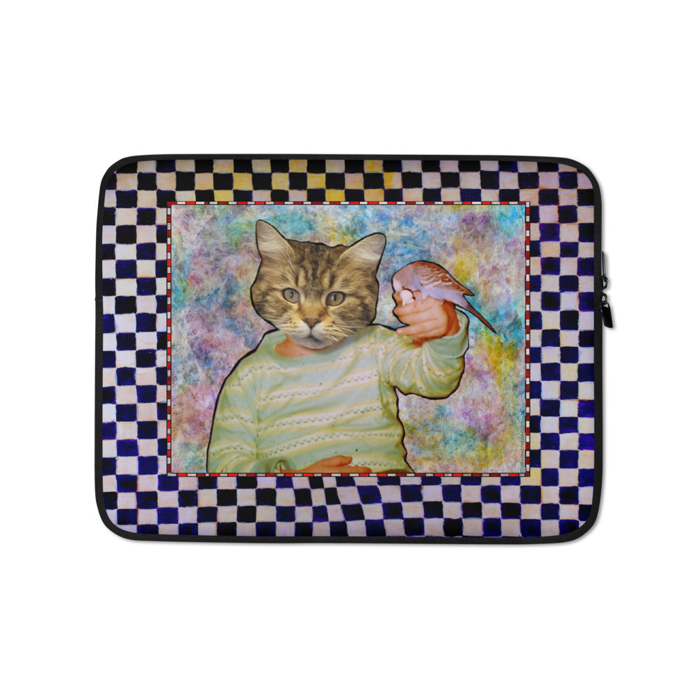 Laptop Sleeve - Michael and Jerry the Budgie