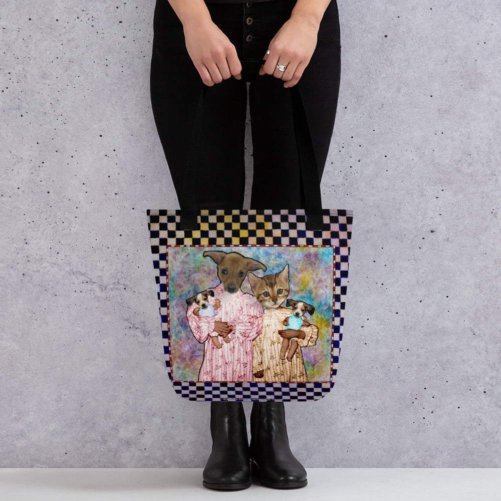 Tote bag - Barb and Mike with Dolls