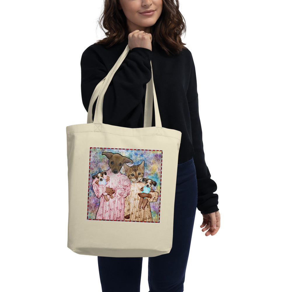 Tote Bag - Organic Cotton - Barb and Mike with Dolls