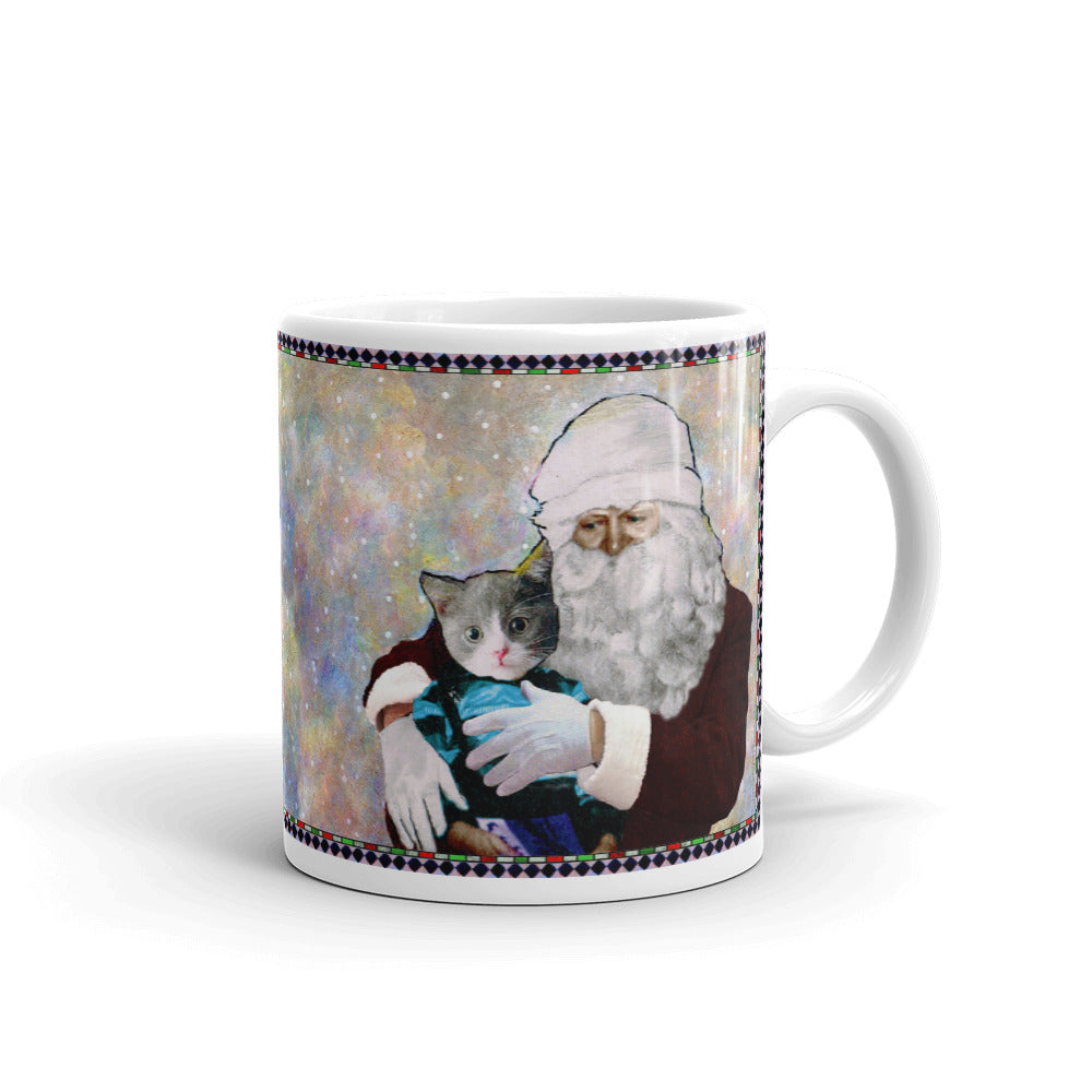 Mug - Santa and Michael - Cat