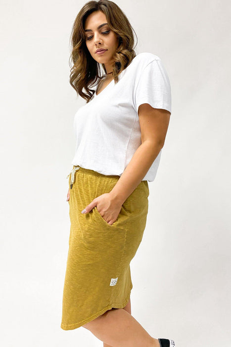 Elm Isla Fundamental Skirt Dried Mustard