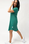 Elm Mary Textured Tee Dress Ivy - Shine On