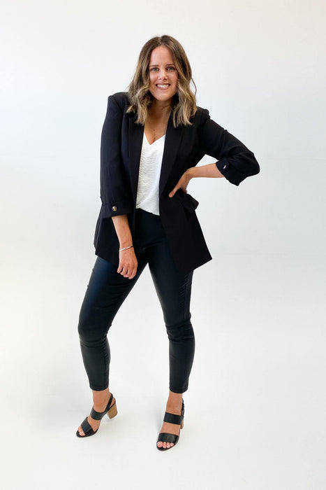 Madison The Label Essentials Blazer Black