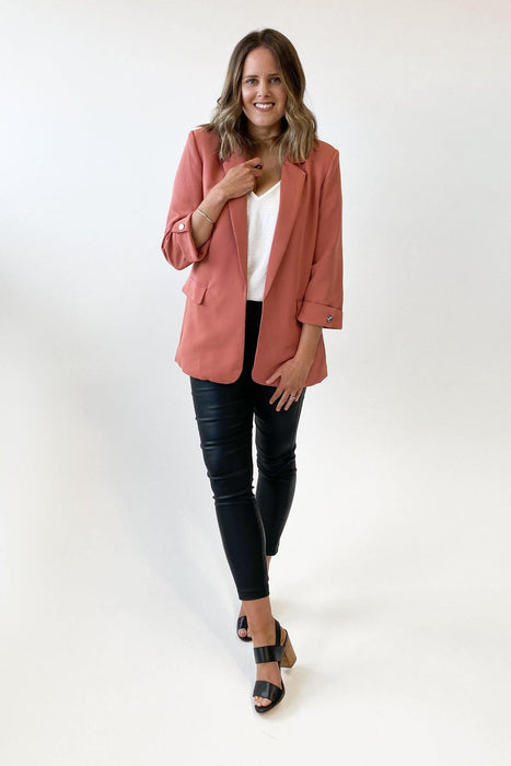 Madison The Label Essentials Blazer Clay