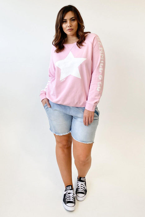 Hammill + Co Vintage Wash Star Sweat Pastel Pink