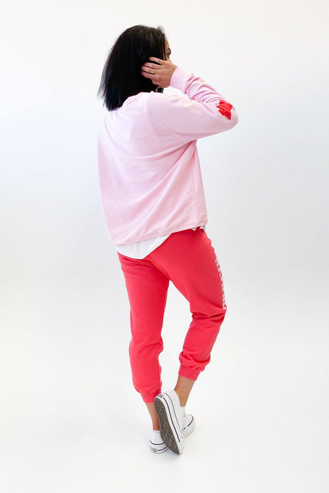 Hammill + Co Varsity Sweat Pink