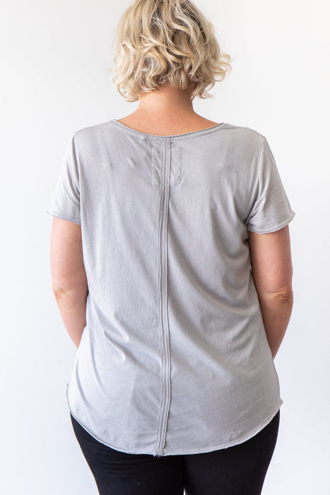 Elm Fundamental Vee Tee Grey
