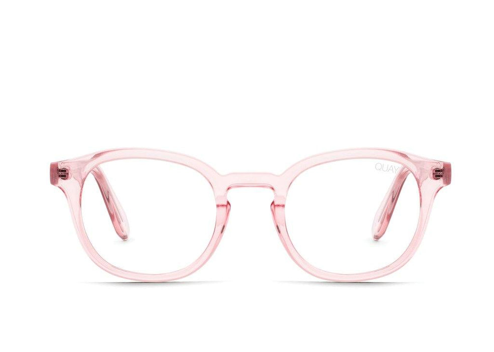 Quay Walk On Glasses Pink/Clear Blue Light