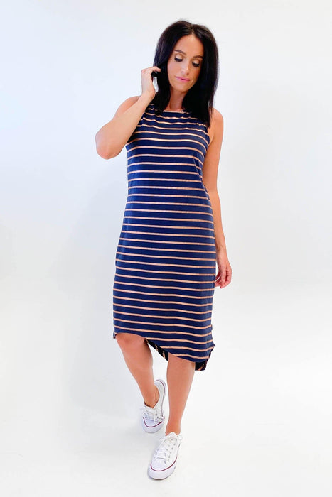Silent Theory One in Eight Midi Dress Navy