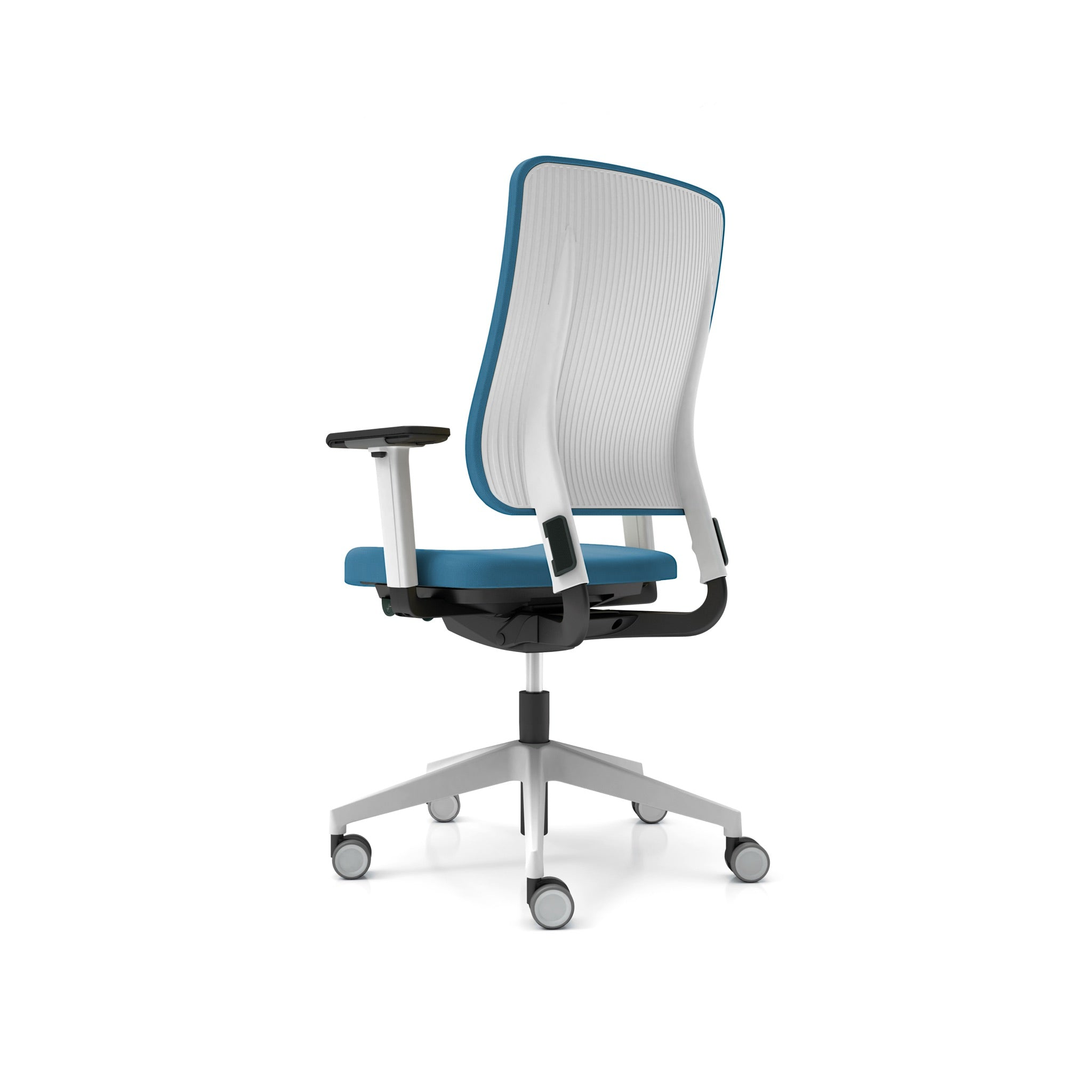 Drumback Task White Chair