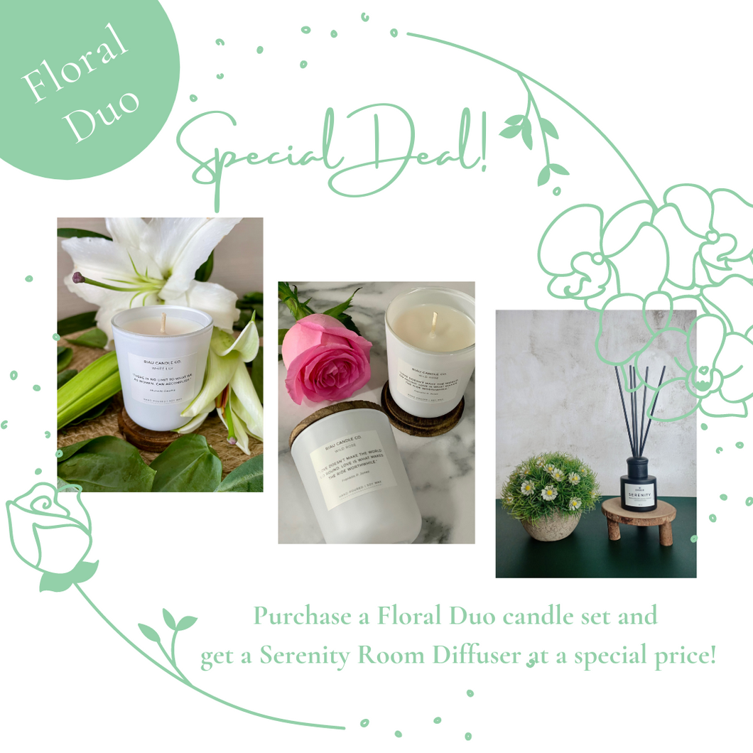 Floral Duo Candle Set