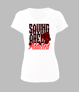 Woman's Saving Abel Addicted Rose Shirt