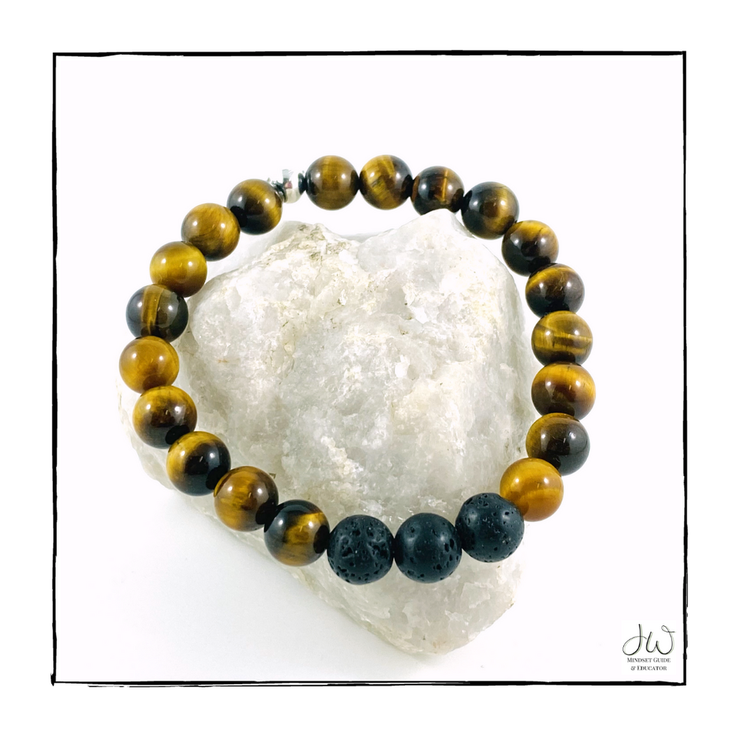 Intention Gemstone Bracelet - I AM COURAGEOUS (with Aroma Beads)
