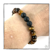 Load image into Gallery viewer, Intention Gemstone Bracelet - I AM COURAGEOUS (with Aroma Beads)