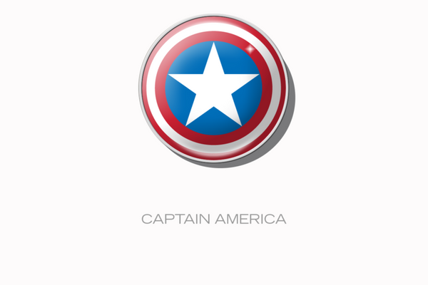 RaceDots 4 Pack Captain America