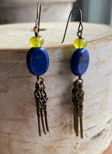 Load image into Gallery viewer, Celestial Lapis Earrings