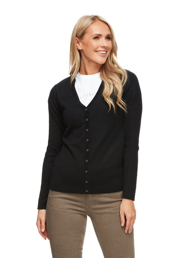 bizwear anywear amelia cardigan womens black