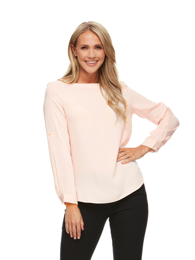 bizwear anywear erin womens essential blouse blush
