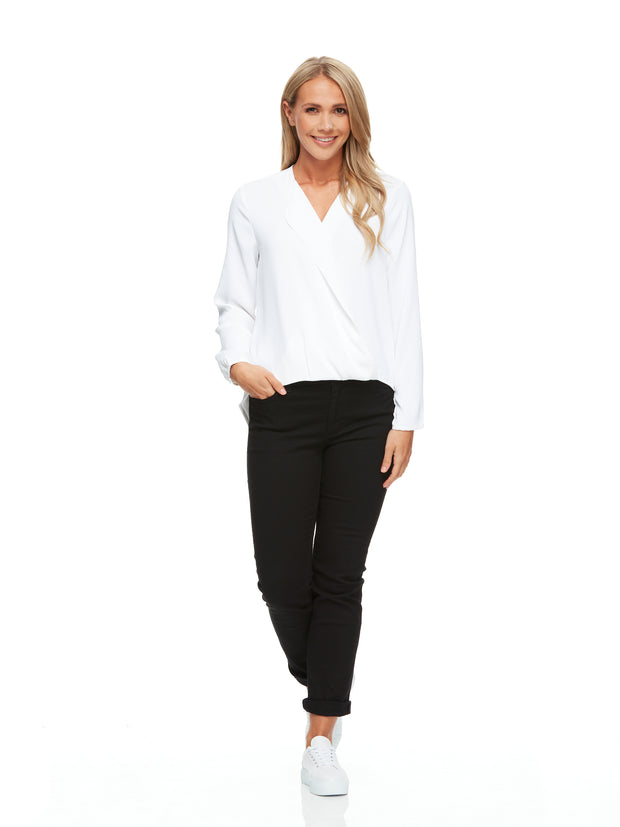 Grace Hi-Lo Crossover Blouse