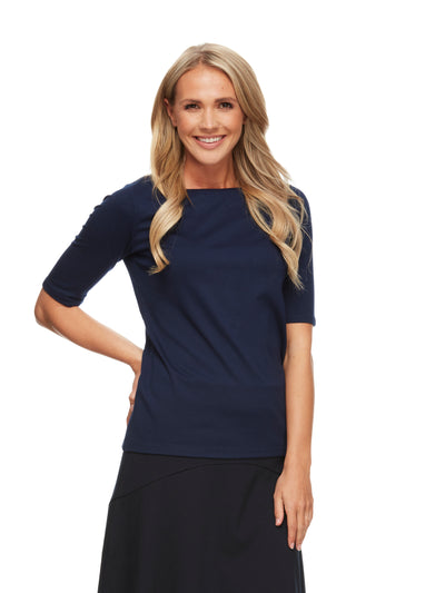bizwear anywear jodi top womens navy