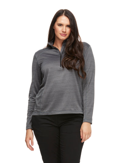 bizwear anywear ruby athleisure top womens grey