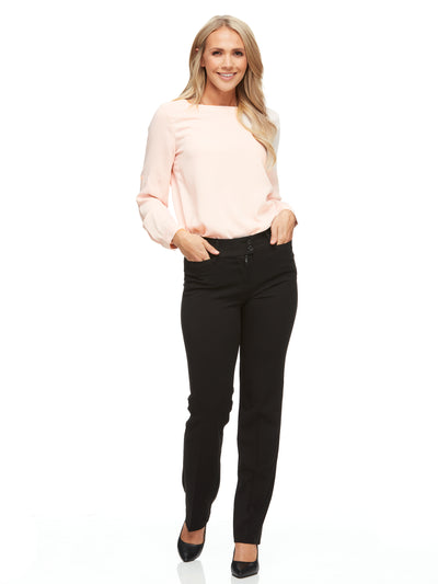 bizwear anywear taylor womens stretch pant black