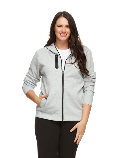 bizwear anywear womens frankie apartment hoodie grey marle