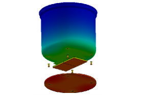 rendering shows the temperature distribution in the PowerPot during operation