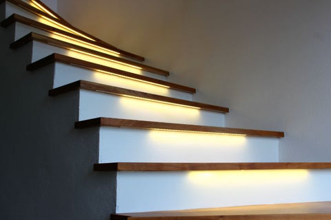 LED strip lighting for stairs